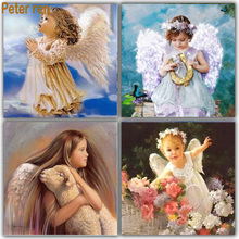 Peter ren Diy diamond painting angel square mosaic sequins full embroidery sale pictures of beads cross stitch