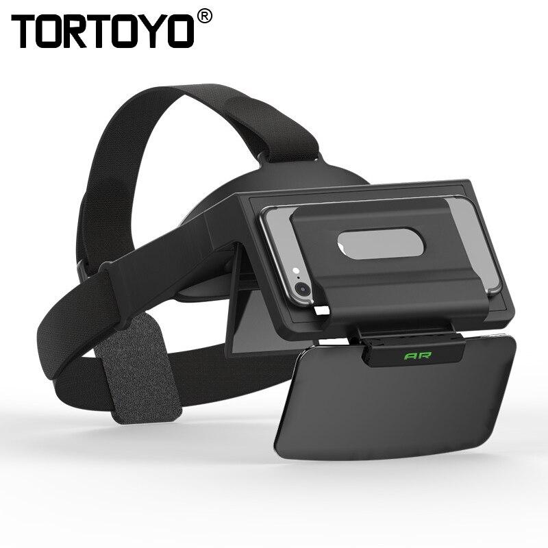 Mini Portable La Réalité Augmentée AR Lunettes Immersive 2 K FHD IMAX Téléphone 3D AR VR Casque Cinéma Movie Game pour 4.7-6 Smartphone