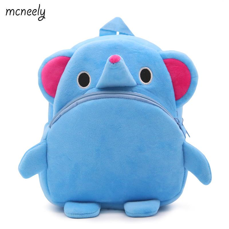 Mini School Bag Student Kindergarten Toy Bags  1-3 Years Old Kids Plush Backpacks Cartoon Plush Toys for Kids New Cute