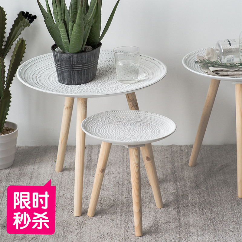 Creative Tray Small Table Placement Coffee Table Small Living Room Decoration Europe And America Pine Furniture