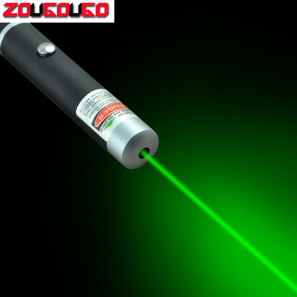 5mW 532nm Grøn / Rød / Blå Laserpen Kraftig Laser Pointer Presenter Remote Lazer Jagt Laser Bore Sighter Without Battery