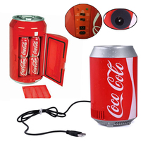Portable Mini Fridge Electric Icebox Mini Car Refrigerator USB Charging Cable 5V 8W Summer Cars Travel Camping Multi Function