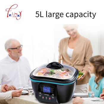 5L Multi-function Electric health pot Electric Cooker Hot Pot/grill/steam/pan fry/deep fry/bake/cake maker food Cooking DFC-818 3