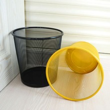 wastebasket Iron net household trash can office paper barrel creative hotel hollow can035  3