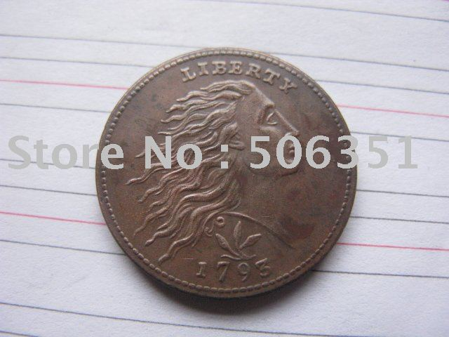 43a78c987 FREE SHIPPING wholesale 1793 WREATH LEAF CENT COPY 100% coper manufacturing