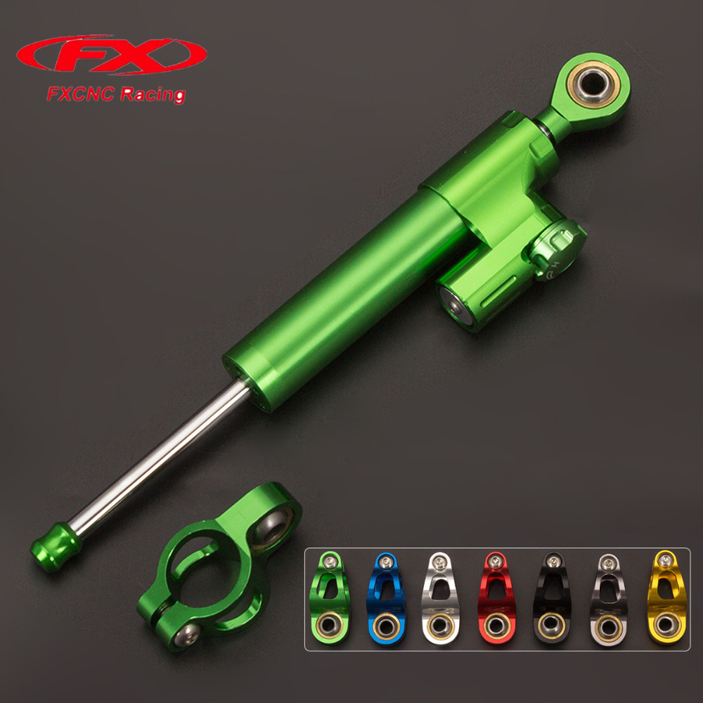 FX CNC Motorcycle Accessories Damper Stabilizer Damper Steering Reversed Safety Control For KAWASAKI EX300 NINJA300 2013 - 2016 motorcycle cnc steering damper