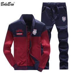 BOLUBAO 2018 для мужчин комплект спортивной одежды новый осенний костюм одежда костюмы мужской кофты + брюки для девочек