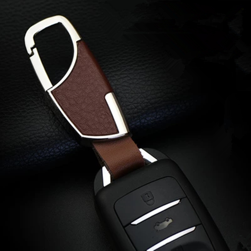 car-styling 100% Head layer cowhide key cover case for Land Rover LR4 LR3 LR2 Range Rover Evoque Defender Discovery Freelander