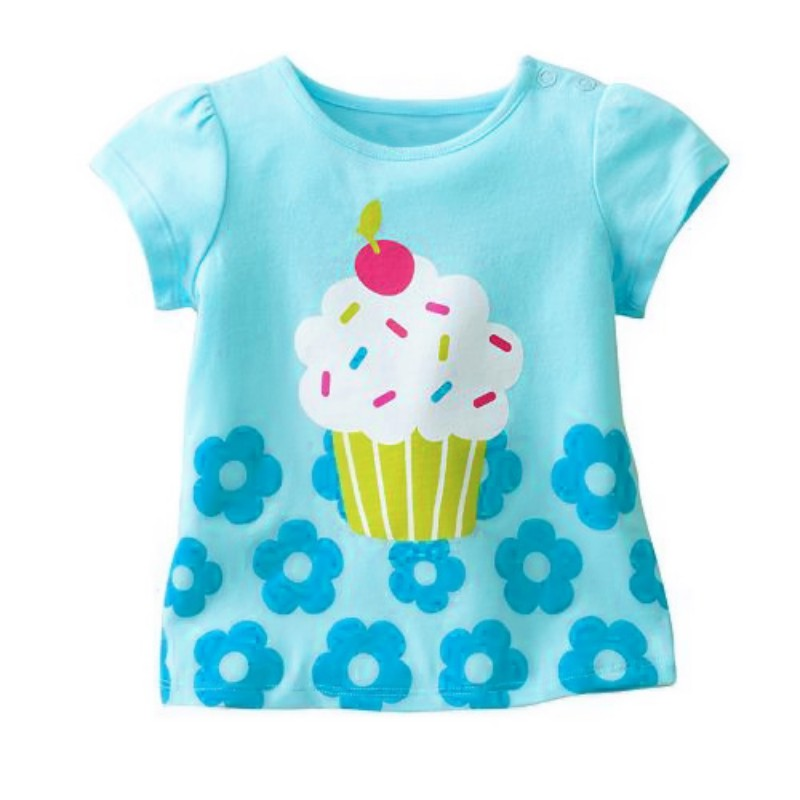 New Summer BabyKids Girls Tshirt Child Clothing Childrens Tops Cartoon Clothes Short Sleeve Tee Shirts