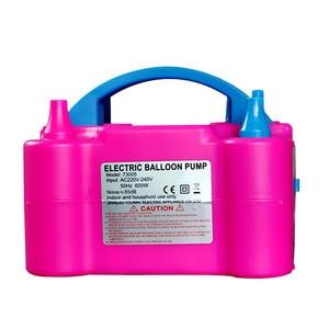 Image 1 - 220 V Taşınabilir Elektrikli Balon hava yatağı Pompası Elektrikli hava yatağı Pompası Çift Delik Şişirme hava kompresörü Aksesuarları Parti Çeşitli
