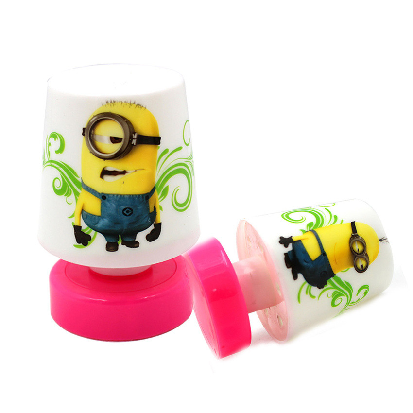Mini Cartoon Minions LED Night Light Toy Small Cute Minions Table Desk Lamp Nightlights For Children Girls Baby Gift Sleeping