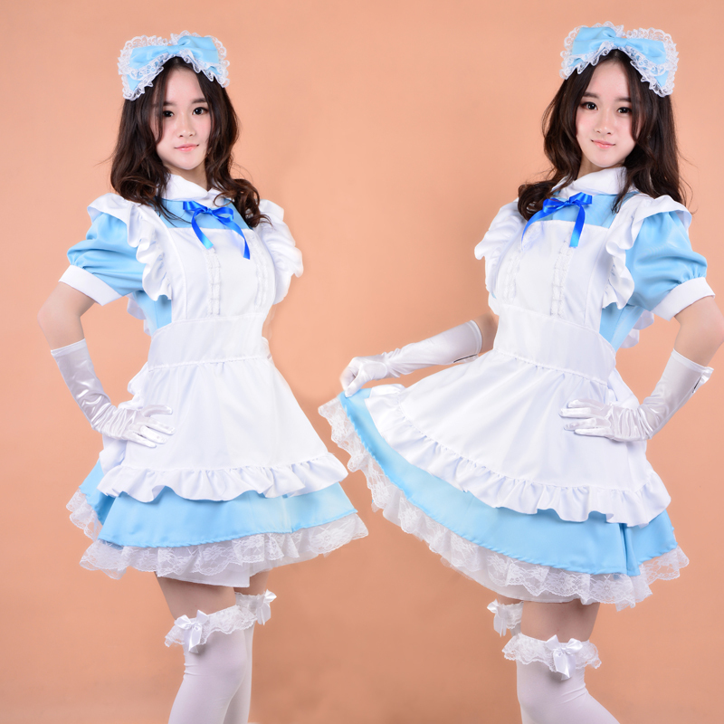 Japanese Anime cosplay costume Implicit confinement tube lolita dress women girl maid clothing