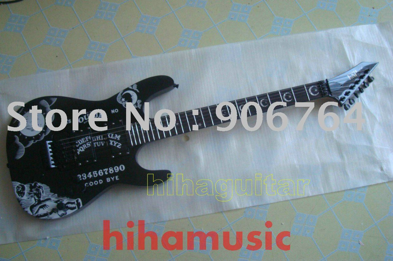 Brand new arrival E S P guitar OUIJA KII custom shop EMG pickups BLACK tremolo Electric guitar free shipping
