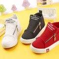 2016 New Spring/Autumn Children Shoes Kids Canvas shoes Sneakers Boys  Flats Girls Boots  Zipper Shoes Size 25-37