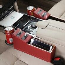 Car Supplies Sewn Storage Box Multi-function Interior Seat Gap USB