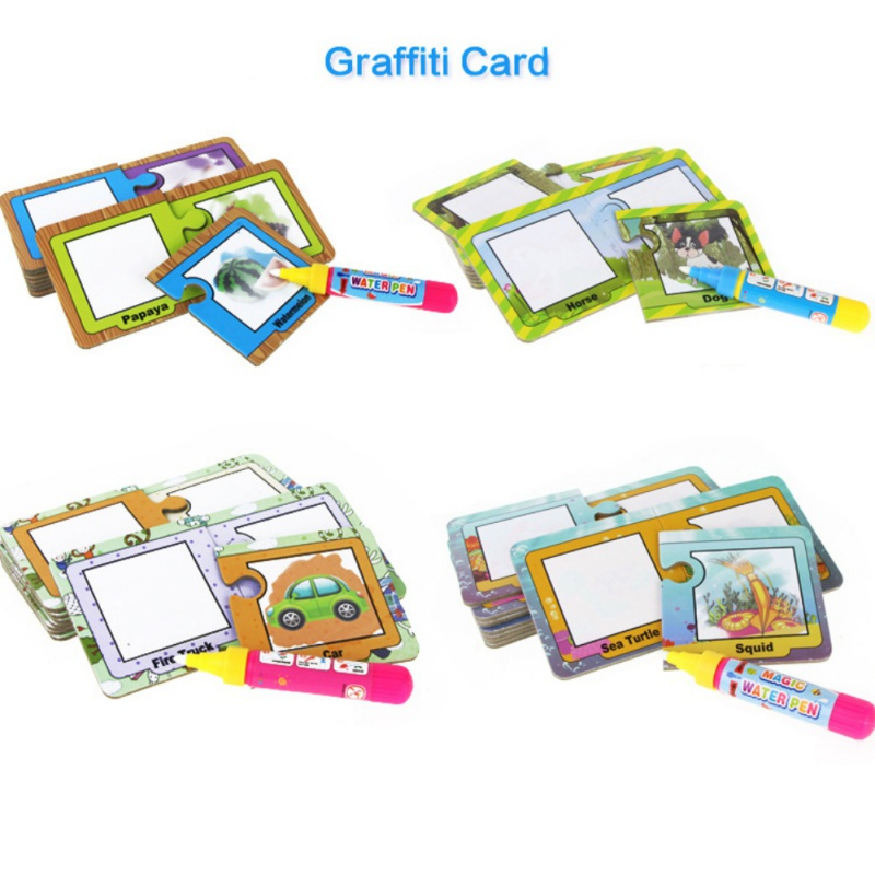 Lovely Childrens Cognitive Card Fruit Animal Early Education Card Writing Board Writing Card Puzzle Childrens Toy Safety To Ensure Smooth Transmission Home