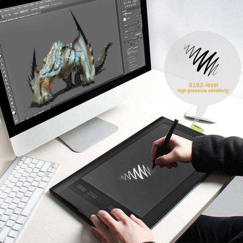 Tablette de dessin électronique tablette de dessin graphique 10*6 pouces souris Anime peint à la main Anti-salissure 5080 LPI