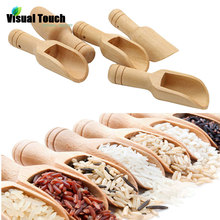 Coffee Scoops Spoon Candy-Flour Wooden Mini Milk-Powder Kitchen Visual-Touch Bathroom