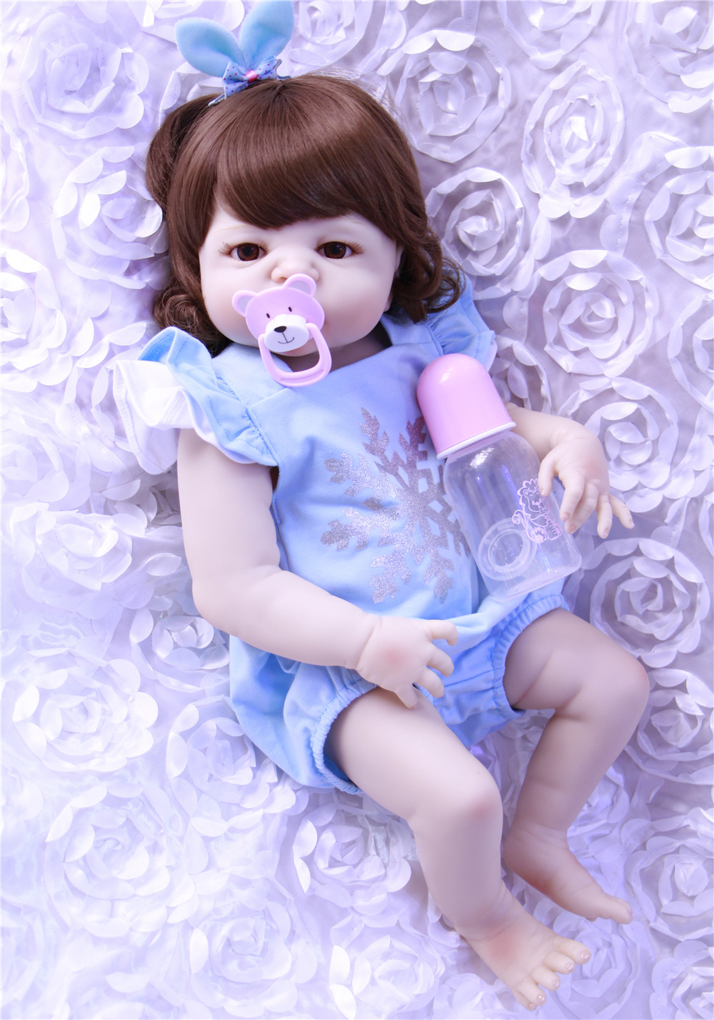 23inch Full silicone reborn baby dolls Toy Baby-Reborn lifelike modeling vinyl newborn bathe infant toddler kids toys23inch Full silicone reborn baby dolls Toy Baby-Reborn lifelike modeling vinyl newborn bathe infant toddler kids toys