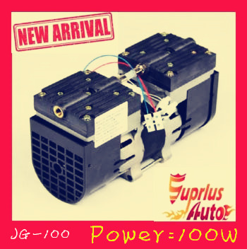 Lowest price JG-100 24L / MIN 100W 110V / 220V (AC) oil-free diaphragm pump 3.6 bar vacuum pump 220v ac 50l min 165w oil free piston vacuum pump hzw 165