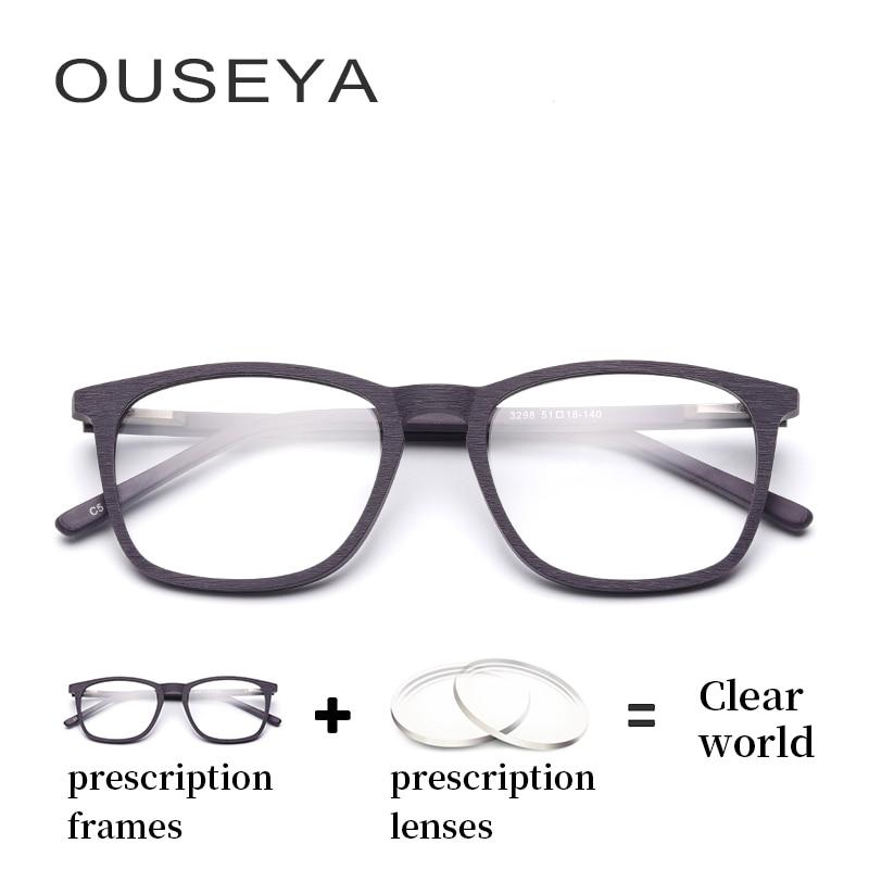 Übergang C5 Brille Asphärische Männer Optische Astigmatismus Vintage Hydrophoben Objektiv 3298 Photochrome Gläser Dioptrien Acetat IOwSqCS