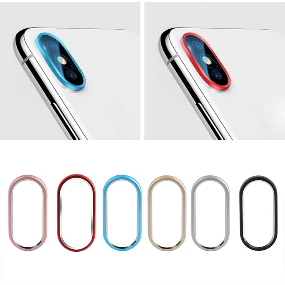 Fashion Smart Phone Camera Metal Rear Lens Protector Case Cover Bumper Lens Protection Ring for iphone 7 8 plus/X//XS Max