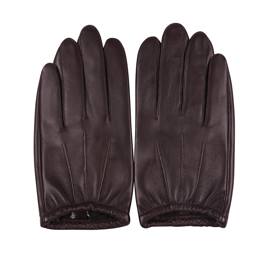 Mens Leather Gloves Lambskin Leather Gloves Winter Super Driving Warm Gloves