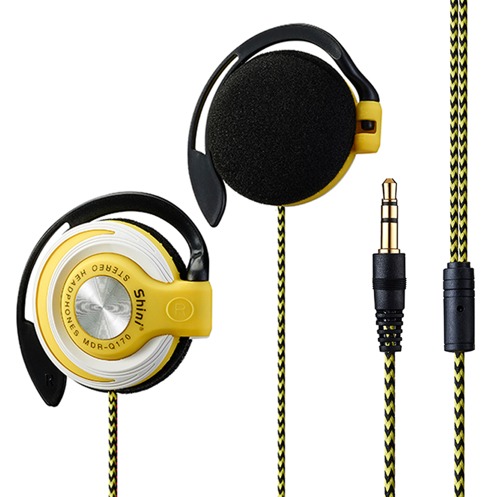 Q170 Super Bass Headphones 3.5mm Sport Wired Headset EarHook Bass Earphone For Mp3 Player Computer Mobile Telephone Wholesale