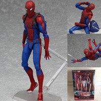 Anime Figma Superhero Spiderman 199 The Amazing Spider Man Doll Pvc Action Figure Boy Model Toys