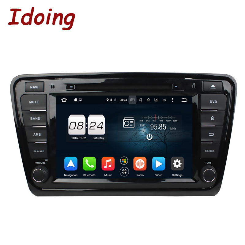Idoing 4GB+32G Steering-Wheel 1Din Android 8.0/7.1 For Skoda Octavia2/3 Car DVD Multimedia Player 8Core Navigation Fast Boot OBD