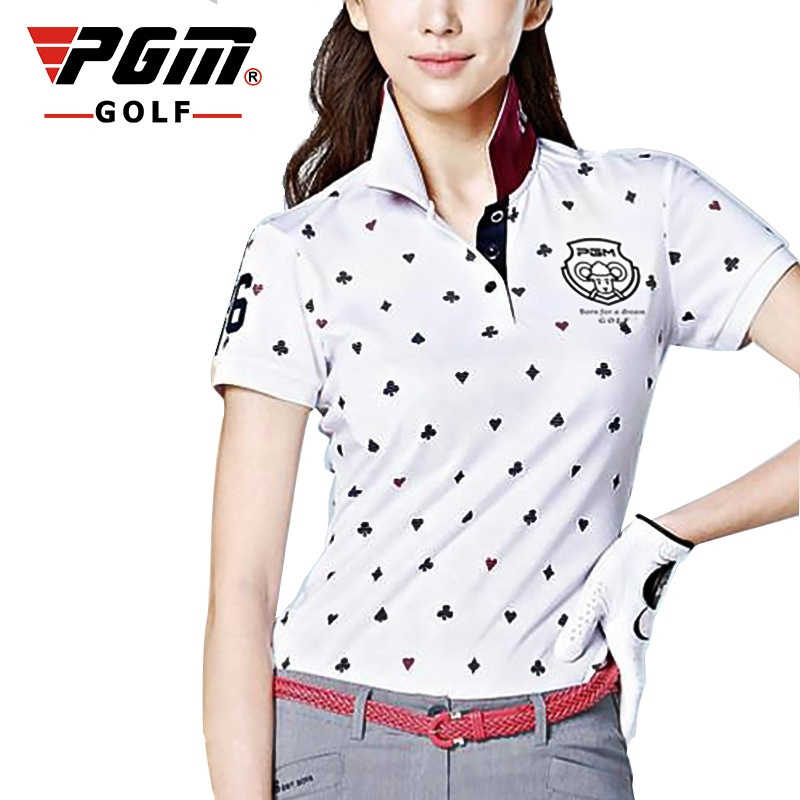 Koreaanse Stijl Slanke Golf T-shirts voor Vrouwen Korte Mouwen Ademend Shirt Dames Turn Down Kraag Sportkleding AA60447