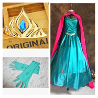 Disfraces elsa dress adult princess elsa costume snow white queen cosplay carnival costumes outfit costume party dresse Custom