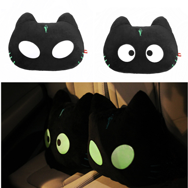 Noctilucous Carton Cute Cat Design Car Pillow Car Accessories Woman Girl Gifts For Ford/BMW E46 Volkswagen vw golf 4 5 6