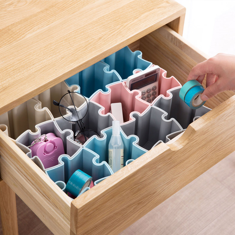 Jewelry Stationery Storage Box Home Office Spliced Desktop Cosmetic Finishing Box Home Organize Makeup Organizer