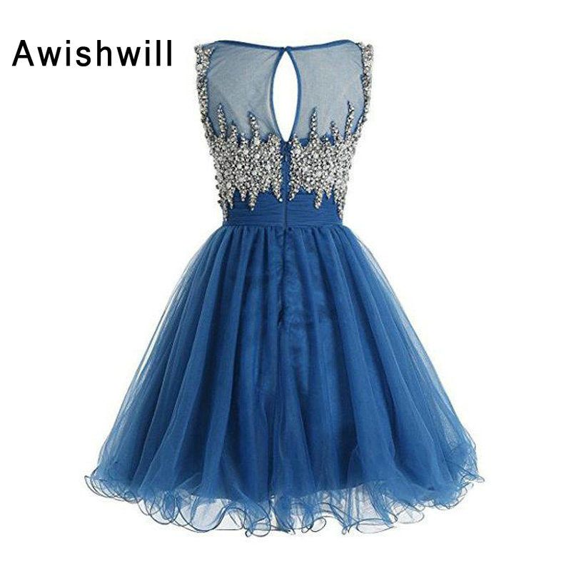 f7b47e71b9 Real Picture Sparking Beading Homecoming Dress 2019 Beadings Tulle A Line  Vestido De Formatura Curto Short Graduation Dresses
