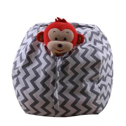 CONEED  24inch Kids Stuffed Animal Plush Toy Storage Bean Bag Soft Pouch Stripe Fabric Chair Drop Shipping A25 30+
