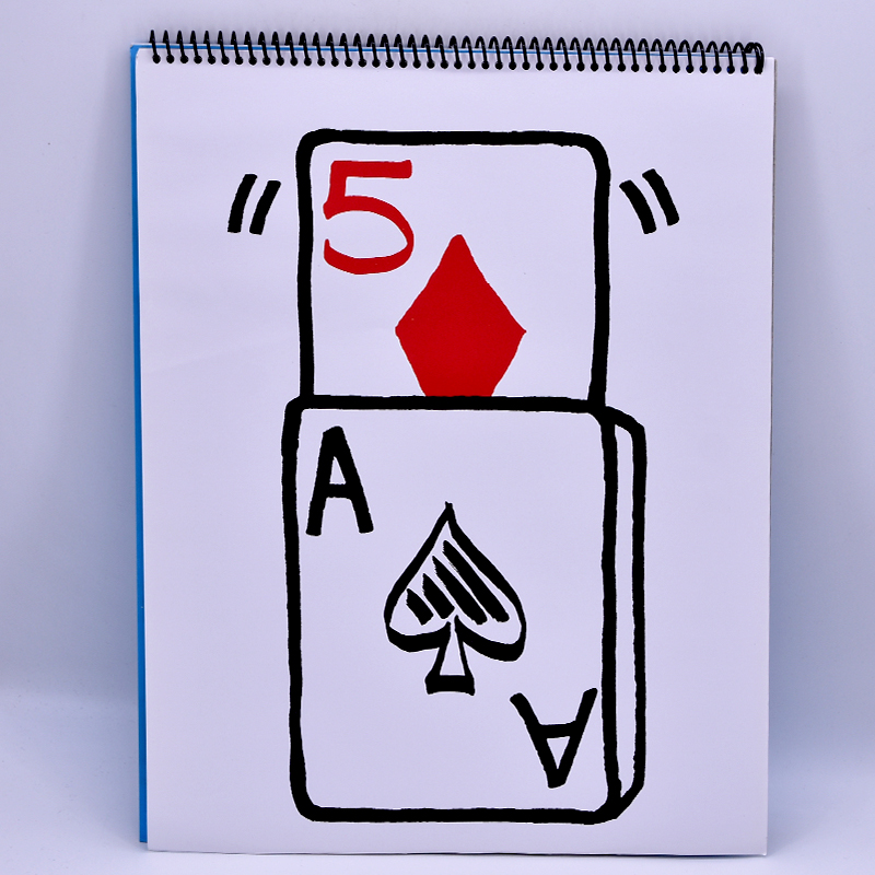 Professionnel Cardiographique Exclusive Hausse Carte Prediction (35.5*28 cm) Pour Magicien Magie Astuces en Scène Illusion Gimmick Props