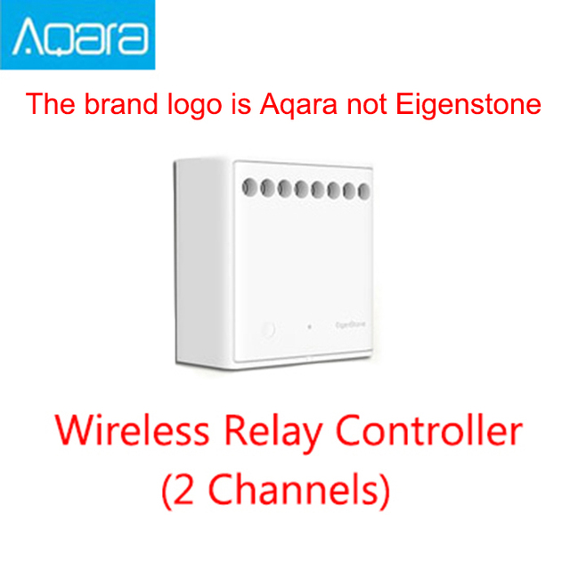 Original Xiaomi Mijia Aqara Two-way control module Wireless Relay Controller 2 channels Work For Mijia APP and Home kit