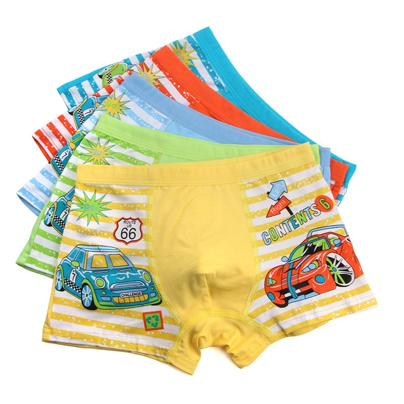 3Pc/lot Boys Cute Cartoon Boxer Underwear Children's Pure Cotton Underpant Boxers Boy Cute Panties