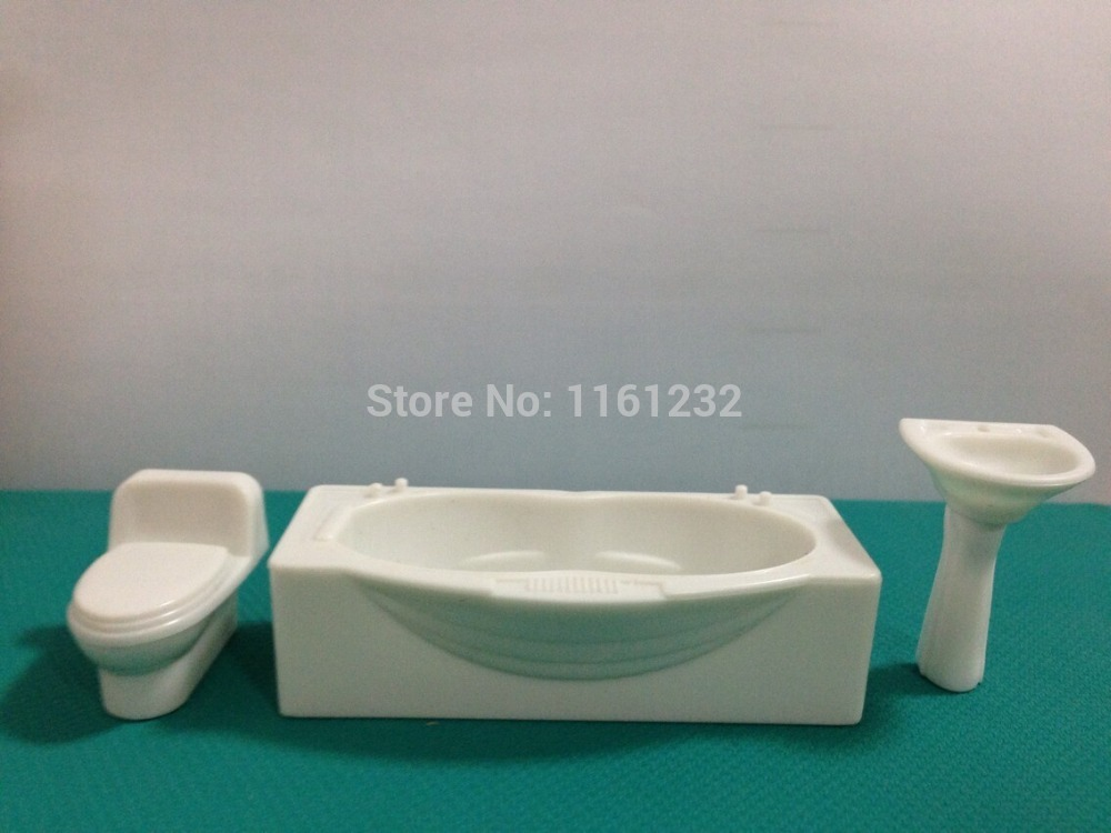 mini scale bathroom furniture models ,1:25 bathtub,closestool ...