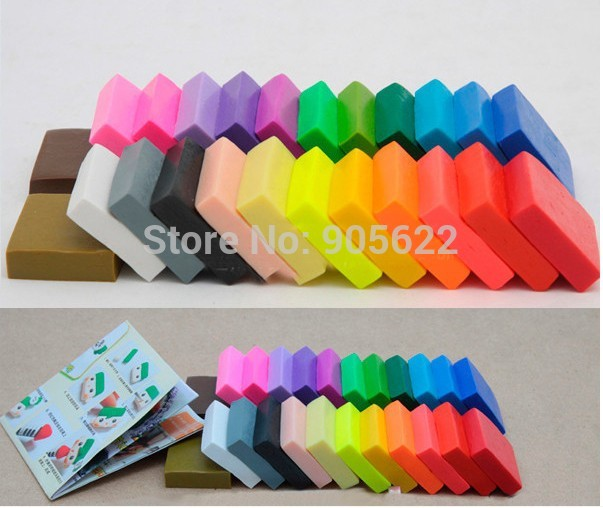 Fi Mo Effect Полимерная глин Jewelry Polymer  Modeling Clay Oven Bake  Clay 24pc/lot Learning & Education  Stationery Good
