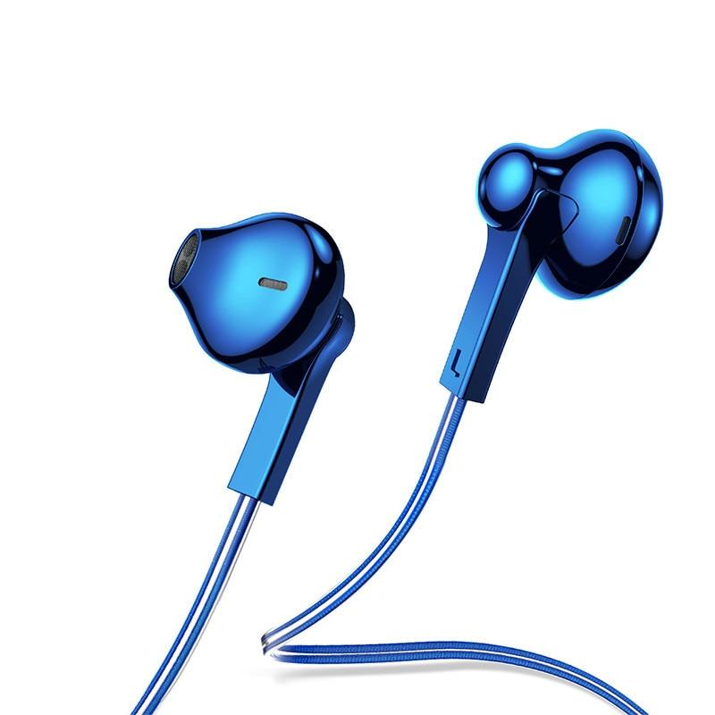 H03 oreja chapado colorido auricular, sonido estéreo bajo auriculares Kulakl K fone de ouvido con micrófono para teléfono móvil