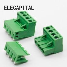 Plugue terminal de ângulo reto ht5.08, 10 conjuntos de 4pin tipo 300v 10a 5.08mm de conector, parafuso pcb, frete grátis bloco terminal