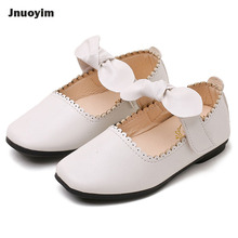 Autumn 2017 Fashion Princess Girls Shoes Solid Color PU Leather Children Casual Shoes Bowknot Design Sneakers Kids Flats
