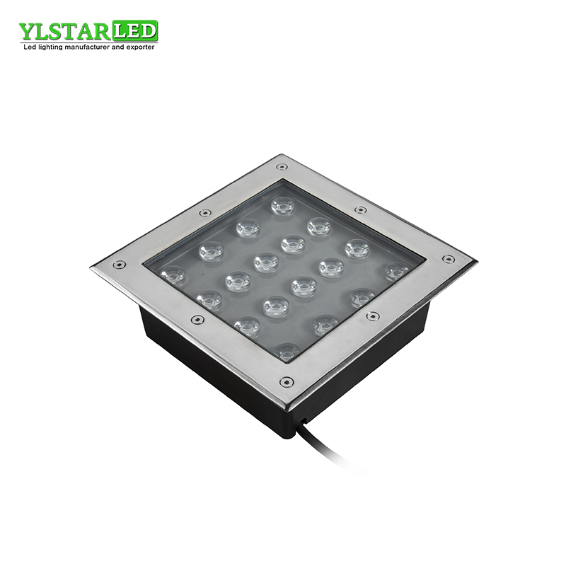 YLSTAR Free Shipping AC85-265V IP67 18W square Buried Lamp Inground Lighting Outdoor LED Underground Lamp Light Garden Light guarranteed 100% free dhl shipping inground lamp ip67 garden path landscape light 5x3w 3in1 rgb led underground light