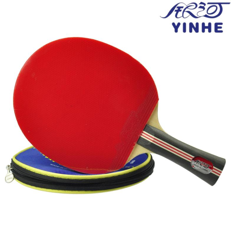YINHE 3 Star Table Tennis Racket With Rubber + Bag Set Ping Pong Bat Pimples In free shipping xc3020 33pc84c new original and goods in stock