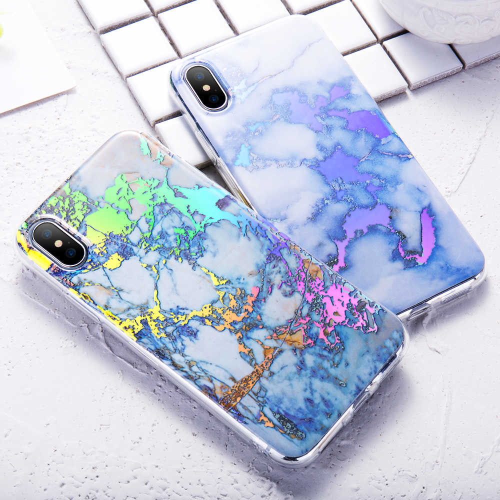 KISSCASE Luxury Phone Cases For iPhone 5S SE Cases For iPhone 6 6S 7 8 X Marble Patterned Cover For iPhone 6 6s plus Soft Coque