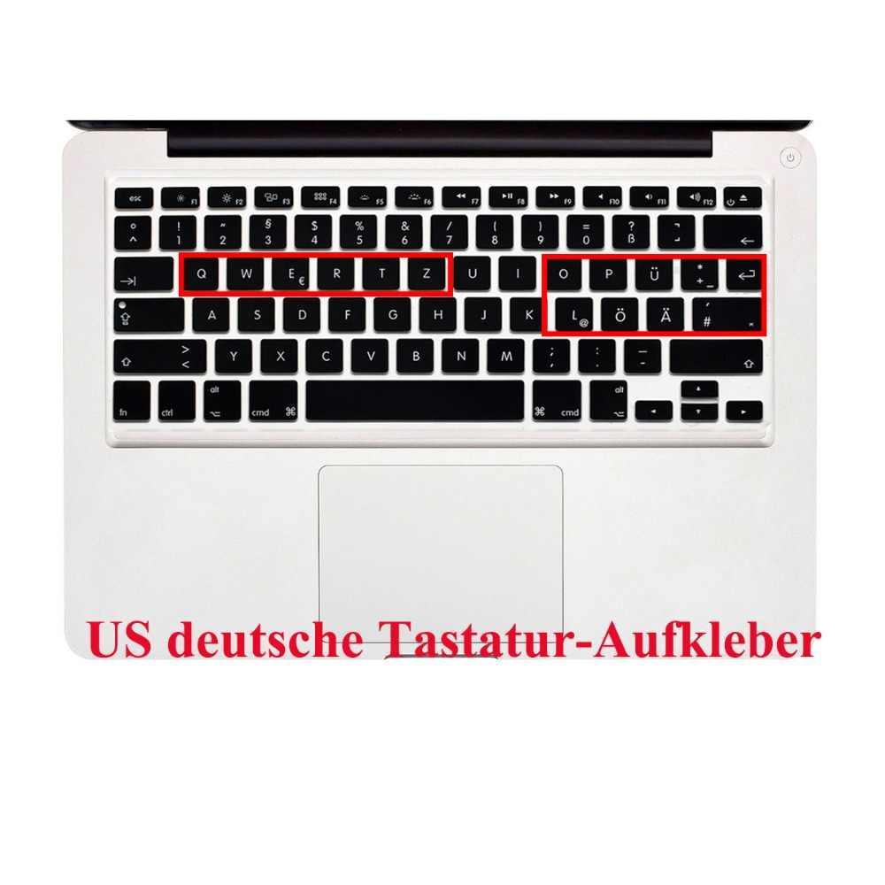 US Layout German Letters Deutsche Alphabet Keyboard Stickers for Macbook  Pro 13