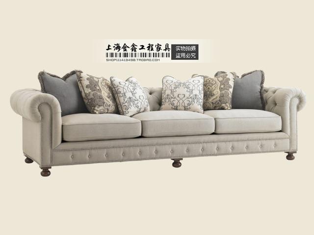 European style living room sofa fabric sofa neo classical post ...