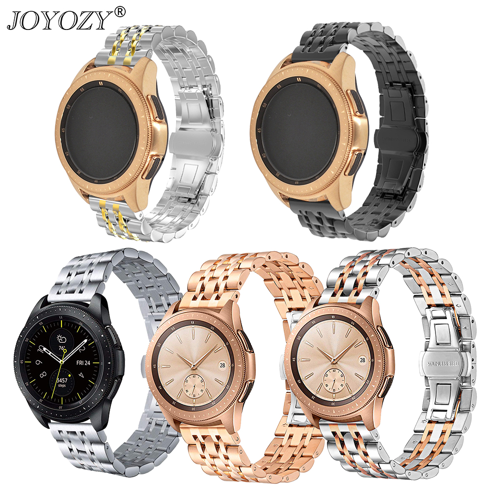 Joyozy 22mm Universal band for <font><b>Samsung</b></font> Gear S3 Classic S2/S3galaxy watch bands 42mm and <font><b>46mm</b></font> Adjustable Stainless Steel <font><b>Strap</b></font> image